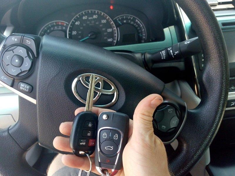 Ключ за Тойота Камри от 2014г. Изработка на Дубликат