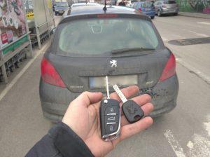 Втори ключ за Пежо 207 2007 година