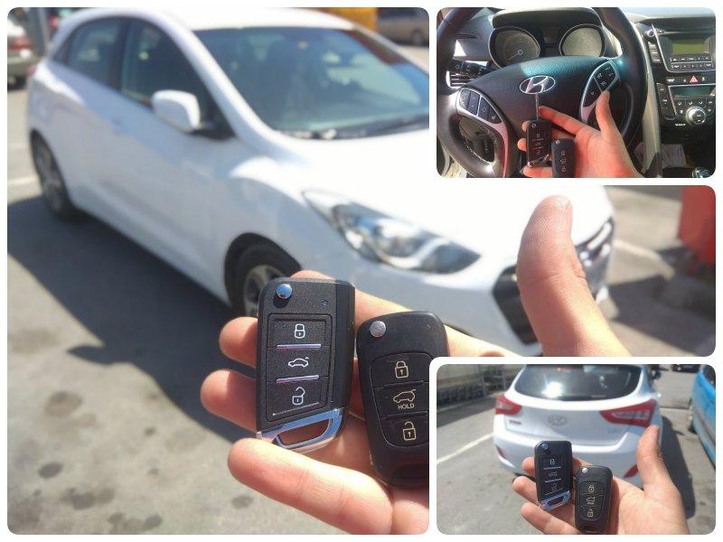 Дубликат на ключ за Hyundai i30 от 2015 година.
