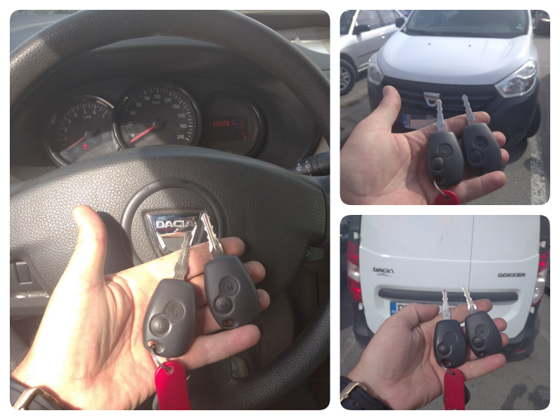 Дубликат ключ Dacia Dokker.