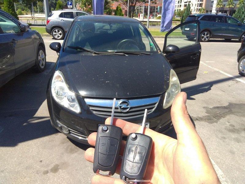 Дубликат ключ Opel Corsa