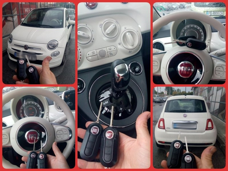 Втори ключ Fiat 500.