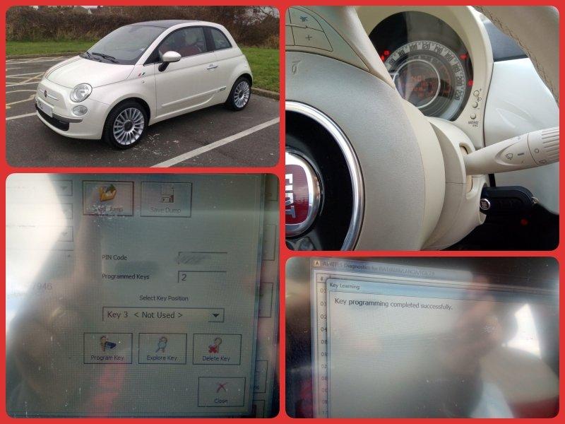 Преобучаване ключ Fiat 500 2010